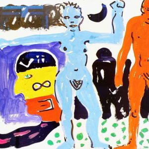 A.R.Penck, Akt Mann und Frau