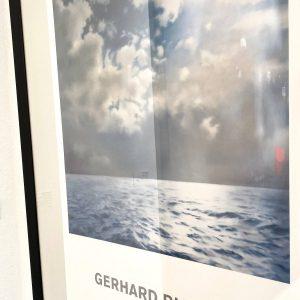 Gerhard Richter Plakat signiert Meer Wolken Seestueck 1991
