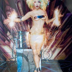 David Lachapelle Fotografie Lady Gaga Electric Chair Funken