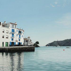 Claus Delvaux Costa Brava Küste blaues Meer Wasser Spiegelung Insel